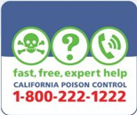 fast free expert help, California Poison Control, 1-800-222-1222