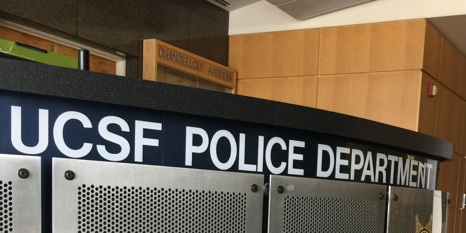UCSF Police Department security desk