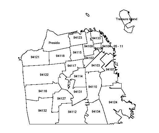 zip code map