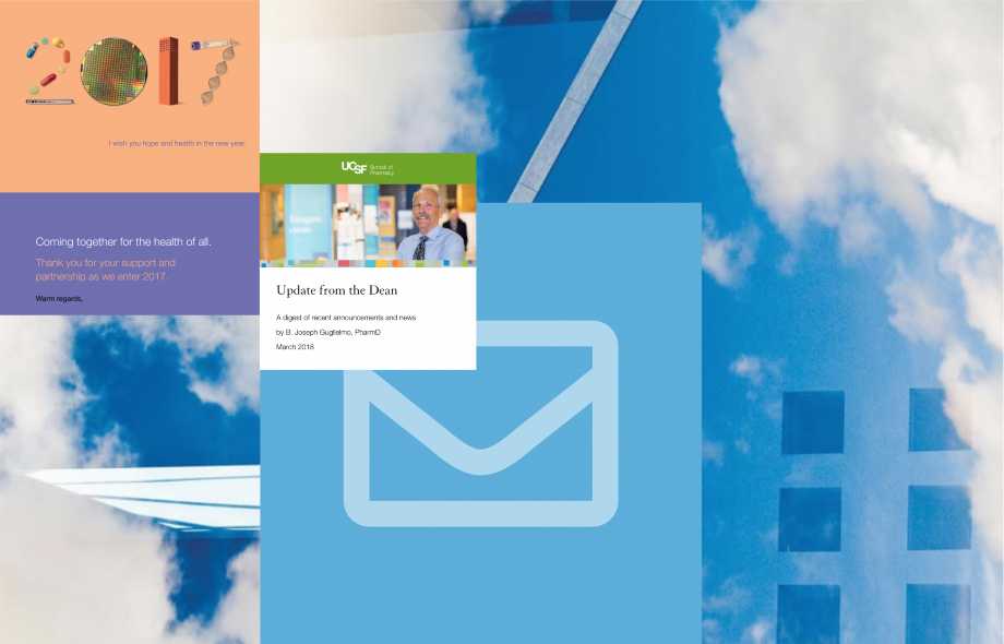 artwork showing examples of email campaigns