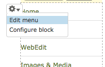 Editing navigation menus in Drupal