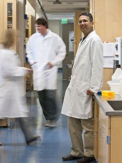 Shuvo Roy in lab