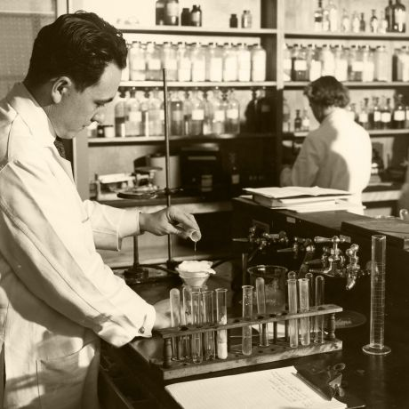 Childers in biopharmaceutics lab