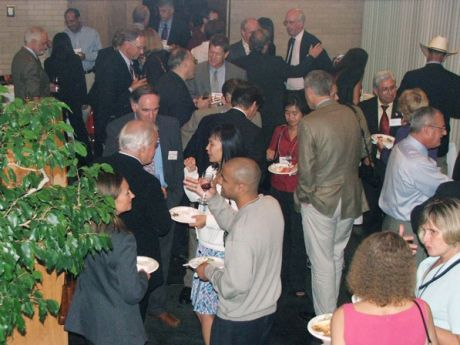 participants socializing with refreshments