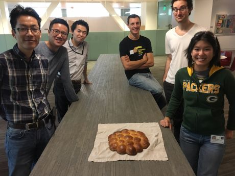 group with king cake