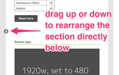 screenshot showing rearrange icon