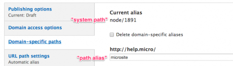 System paths and domain aliases