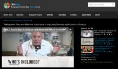 screenshot of iBiology website