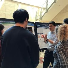 Awesome poster presentation by our summer intern, Adem