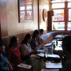 group in restaurant
