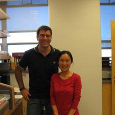 Antonio with a lab member