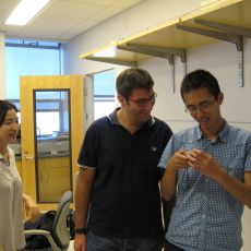 Antonio with two lab members