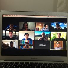 April 21, 2020: Zoom lab meeting during COVID-19 pandemic