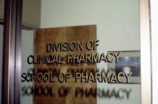 window lettering: Division of Clinical Pharmacy School of Pharmacy