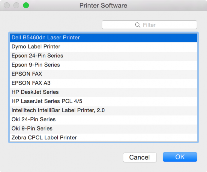 Choosing b&w printer software