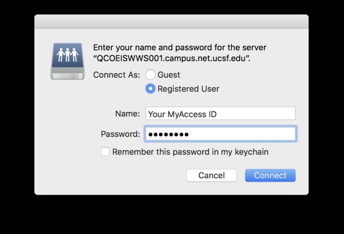 MyAccess server login